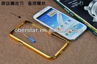 for Samsung Galaxy note 2 N7100 new designed Aluminum Metal bumper frame case cover
