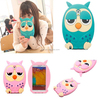 Ready Stock transparent sleeping owl printed silicone glittery protective case for iphone 5s 5 for sony