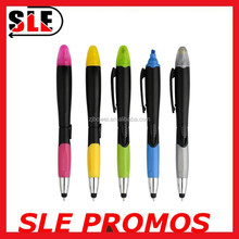 Good Quality 2 In 1 Rubber Grip Plastic Ball Pen/ Rubber Grip Plastic Ballpoint Pen/ Plastic Ball Pen