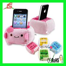 LE C1595 cute plush mobile cell phone desktop office holder ( pink pig )
