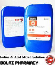 Lodine y ácido mezclado solución desinfectante para estanque