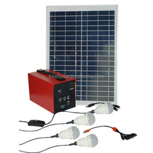 rechargeable solar electricity generating system for home