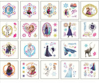 Free shipping wholesale 20000pcs hotsale 5*5 tattoo sticker elsa princess party supplies kids stickers Christmas gift mix item