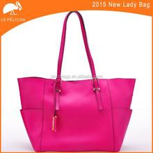 New design big shopper bag lady cow leather handbag leather hand bag 13SH-1381SD5