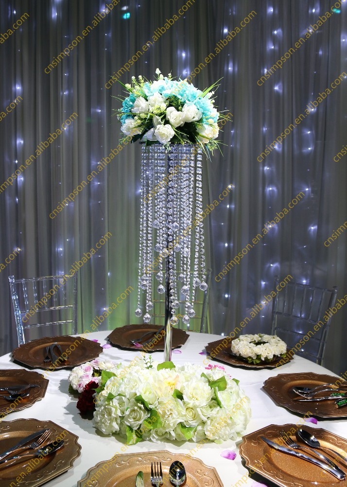 Crystal table top chandelier centerpieces for weddings for Decoration en cristal