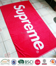 High Quality 100% Cotton extra supreme branded large beach towel