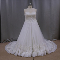 glamour shining custom design back open bridal wedding dress