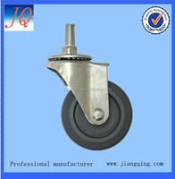2 inch thread stem rubber caster wheel supplier