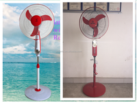 Best-selling models for 2015 summer in Pakistan and India with LED lamp DC12V/DC24V Solar pedestal Fan