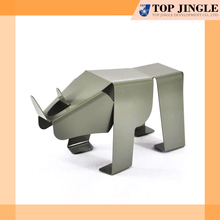 Cute Animal Design Grey Metal Board Bookend