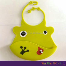 Cute silicone baby bib 2014 new born baby gift set