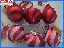 2014 decoración de la navidad de vidrio transparente bola de navidad fuera- pintado de decoración de navidad bola de cristal