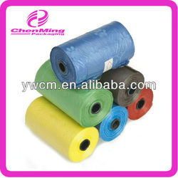 Yiwu colorful dog clean up roll plastic bag