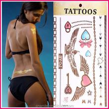 New Fashionable 2015 Long Lasting Flash Temporary Glitter tattoo arm sleeves