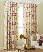 Factory Wholesale Cheap Fancy Paper Printed Floral Home Curtains
