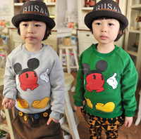 2015 Hot Sale winter children Sweatshirts long sleeve thick shirt kids wholesale winter clothes 100% cotton