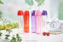 rose design plastic water cup,hot sale jug with portable