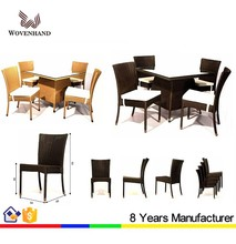 Fast food restaurant chair and table garden furniture set