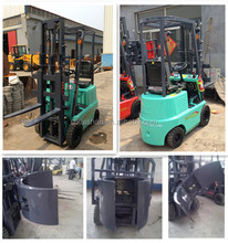 1.0Ton Mini Electric Forklift With Clamp Attachment