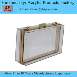 Clear Acrylic lucite Perspex fancy latest design fashion clutch plastic purse