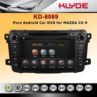 China oem 2 din pure android 4.2 9'' car navigation system for mazda cx-9