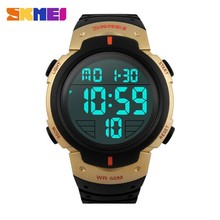 watch factory wholesale gold color large display digital sport wrist watch