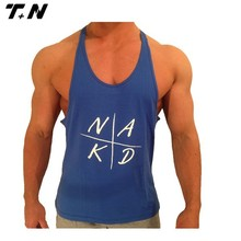 wholesale men's low armhole gym slimming fit singlet/tank top