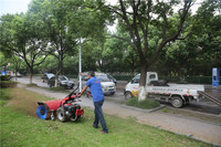 Italy technology two wheel mini tractor, walking tractor, power sweeper