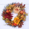 New arrival decorative artificial flower pip berry wreath for autumn home decor wholesale