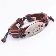 Sya Pottery Rope Leather Bracelet Color Brown Fashion Leather Jewelry