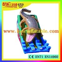 Kule inflatable giant crocodile slide inflatable slip and slide for kids for sale