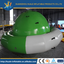 2016 new product interative game spinning top inflatable UFO for water game ,inflatabale water rotating top
