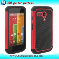 2014 fashion combo hybrid phone accessories for MOTO-G cover