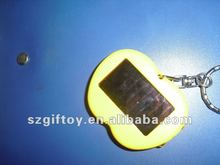 cute apple shaped led solar keychain for promotional gift
