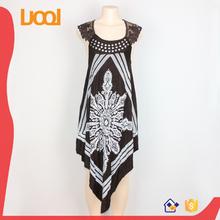2015 latest sleeveless casual dress designs for xxl size women