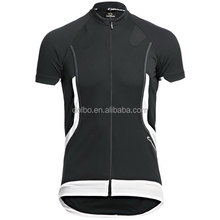 100% polyester cooldry Men's cycling shirts with silicon trim and flat locks