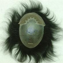 HS12 Thin skin and Fine Welded mono men hair toupee