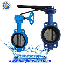 Handle lever butterfly valve factory supply cf8 wafer butterfly valve