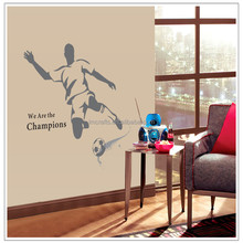 Kids favorite football player children boys room home decor plane wall stickers bedroom Mural decals hot sell stickers AY1939