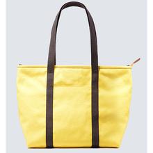 Yellow Cotton Canvas Tote Shopping Bag