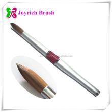 Silver metal handle acetone resistant kolinsky acrylic pen