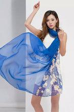 summer chiffon multicolor butterfly printed wraps shawl stole beach scarf beachwear