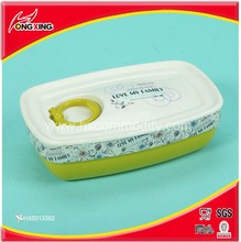 Chinese classic style plastic best lunch boxes with spoon