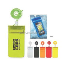 High quality sealed cell phone pouch for swimming, Handy waterproof pouches with neck cord
