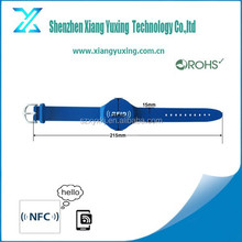 Waterproof soft PVC rfid wristbands adjustable