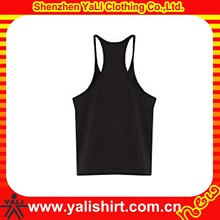 Wholesale bulk cheap plain black scoop neck cotton custom bodybuilding gym stringer