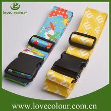 2015 High Quality Colorful luggage strap plastic breakaway buckle/printing logo luggage strap wholesale