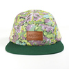 5 panel snapback hat/print flower 5 panel cap