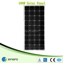 18v 100w sharp solar panel for home use in asian market