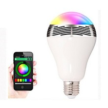 IOS/Android App controlled 3w led bulb lighting LED Bluetooth light bulb Speaker With White and RGB Light smart music lamp